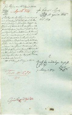 Koncepcia pre zasadnutie Rady vo Viedni 12 Apríla 1804