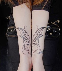 #butterfly #tattoo one wing on one arm