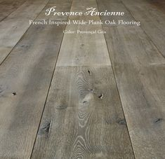 Provence Ancienne Wide Plank French Inspired Oak Flooring manufactured in our facility by Pavé Tile.  Artistry, utmost quality - hand crafted with widths from 6