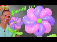 how to make a balloon flower Balloon Flowers, Youtube, How To Make, Balloon Ideas, Bouquets, Tips, 15 Years, Amor, House Party Decorations