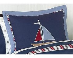 Nautical Nights Sailboat Boys Pillow Sham Sweet Jojo Designs Standard Pillow Shams are created exclusively to coordinate with their children's bedding collections. This pillow sham is a quick and easy way to complete the look and theme in your.