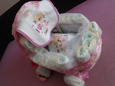 Baby carriage - diaper cake
