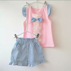 BibiCola fashion baby girls summer clothing sets kids outfits suit children flower bow T-shirt +short pants clothing set Girls Summer Outfits, Toddler Outfits, Kids Outfits, Baby Girl Fashion, Kids Fashion, Baby Dress Design, Girl Dress Patterns, Sewing Patterns, Baby Kids Clothes