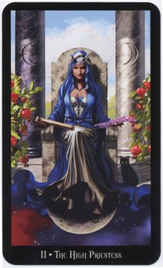 High Priestess from the Witches Tarot.