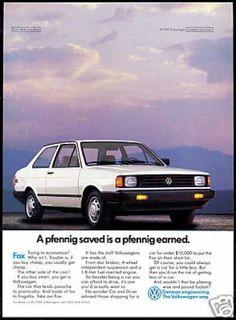VW Volkswagen Fox Photo Pfenning (1989)