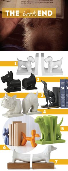 The BOOK End | House of Harvey - All kinds of dog-themed book ends.