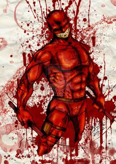 A gritty (and gratuitously bloody) Daredevil by ~SaintYak on deviantART