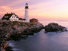 Portland Head Light, Cape Elizabeth, ME. While you're there, don't miss The Lobster Shack at Two Lights!