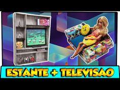 Coisas que Gosto: Como fazer: Estante e televisão para bonecas Barbi...