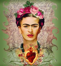 Risultati immagini per Frida Kahlo fotos Frida E Diego, Frida Kahlo Diego Rivera, Frida Art, Mexican Artists, Mexican Folk Art, Fridah Kahlo, Art Du Collage, Kahlo Paintings, Sacred Heart