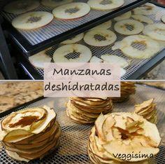 Manzanas deshidratadas. Una manera divertida y saludable de comer manzanas. ¡Aprende como hacerlas!