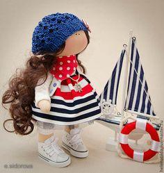 Купить Морячка - синий, красный, белый, море, морская тематика, морской интерьер