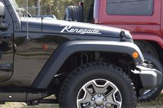 """Jeep Wrangler RENEGADE Hood Decals CJ Style for your Jeep Wangler (all years) Includes: - Left and Right Hood Decals 21"""" x 4"""" Precision cut from Premium Quality Oracal Vinyl with 8 year UV Protection"""