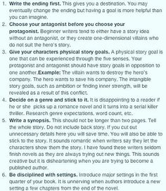 Just a few writing tips that may help someone.