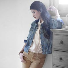 Styled denim jacket