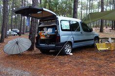 Caddy Van, Minivan Camping, Mini Camper, Caravans, Campervan, Motorhome, Peugeot, Mtb, Log Projects