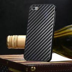 Пластиковый чехол 0.5мм Черный Black Carbon для IPhone 5&5s