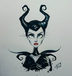 Disney inspired drawings: maleficent by alef vernon inspired by tim burton. Tim Burton Stil, Tim Burton Kunst, Arte Tim Burton, Tim Burton Drawings Style, Tim Burton Art Style, Tim Burton Sketches, Disney Drawings, Cool Drawings, Tattoo Drawings