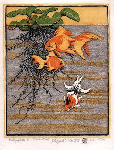 Elizabeth Norton woodblock print