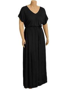 Women's Plus V-Neck Jersey Maxi Dresses | Old Navy