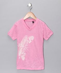 Take a look at this Pink Dragonfly Crinkle Tee - Girls  by Blow-Out on #zulily today! #fall