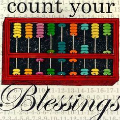 Count Your Blessings by Shelly Kennedy Graphic Art on Wrapped Canvas