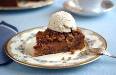 Caramel Apple Crumble Torte: easy to make and great topped with dairy-free ice cream!