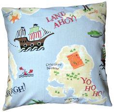 #CushionCover #Treasure #Island #LauraAshley Fabric #Boys #Handmade #Pirates