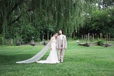 Emily and Andy under the Willow Tree in Ohio Village.