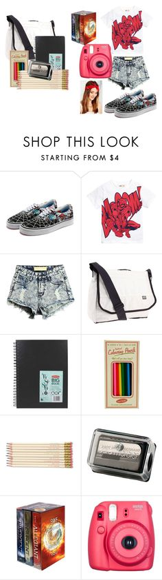 """""""SPIDERMAN SPIDERMAN no body knows who you are"""" by ch1ckforever on Polyvore featuring Keen Footwear, ASOS, Kate Spade, Laura Mercier, Fuji and Urban Renewal"""