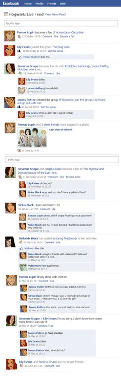 Marauders Facebook Timeline 2 by julvett on deviantART || lol im supposed to be typing up science project stuff shiz