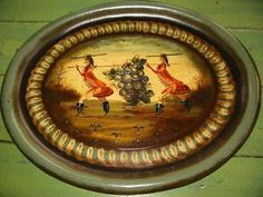 artist peter ompir | Vintage-Peter-Ompir-Toleware-Serving-Tray-Old-Peter-Ompir-Folk-Art-Tin ...