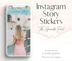 Sparkle Instagram story stickers! For Instagram branding, and bloggers and influencers. - Blush Created