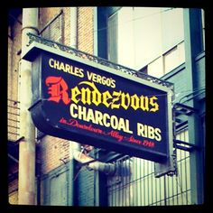 Rendezvous - Best Ribs in Memphis, a favourite of Sinatra's. so delicious