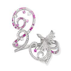 Oiseaux de Paradis bracelet, white gold, pink sapphires, diamonds. Van Cleef & Arpels