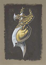 """""""Fusion 2"""" von Matthias Triet   Acryl & Farbstift auf dunkles Zeichenpapier   A3 (29.7 x 42 cm)   www.einfachKunst.ch   Art   Basel   Schweiz"""