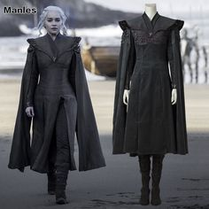Game of Thrones Season 7 Cosplay Daenerys Targaryen Costume Fancy Dress Black Outfit With Cloak Halloween Carnival Suit Boots-in Game Costumes from Novelty & Special Use on Aliexpress.com | Alibaba Group