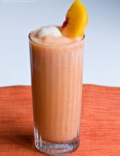 Frosty beverage for your weekend - my Peachy Lychee Daiquiri. Virgin or not!