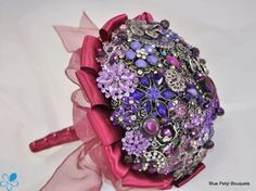 Sangria Brooch Bouquet - Wedding Accessories by Blue Petyl - Loverly