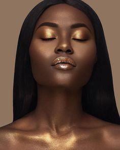 """188.3k Likes, 934 Comments - FENTY BEAUTY BY RIHANNA (@fentybeauty) on Instagram: """"Let your melanin glow✨   #KILLAWATT in #TROPHYWIFE   #GLOSSBOMB Makeup by @moshoodat Photography…"""""""