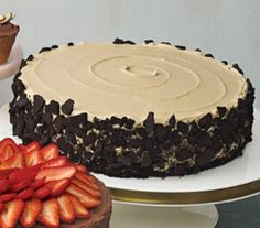 Chocolate Cake With Coffee Frosting and Crushed Cookies