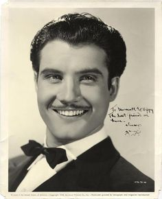 George Reeves/Superman in a young picture with a pencil thin mustache!