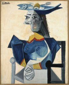 Femme assise au chapeau en forme de poisson - Stedelijk Museum Amsterdam