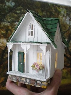 Another Teeny Weeny Streamside Studio. A 1/4th scale shabby chic dollhouse commissioned by Duanna in Hawaii.