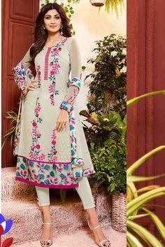 Glorious #Grey Salwar Kameez Set