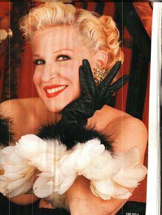 Bette Midler in my earrings Vanity Fair.
