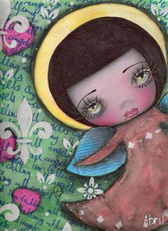 Angel Girl Print $23.00
