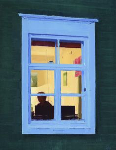 Today's advent artwork is 'Summer Window', oil on panel, 13.75 x 10.6ins (35 x 27cm), by Annika Talsi (detail) - £750 New Art, Advent, It Works, Window, Oil, Detail, Gallery, Frame, Artwork