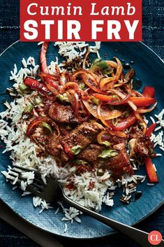 This spicy Szechuan-style dish is boldly flavored with earthy cumin and Szechuan peppercorns that make your mouth tingle pleasantly. If you're not a lamb fan, you can use beef sirloin instead. Toasting the cumin seeds and peppercorns draws out their essential oils and makes their aroma and flavor more intense. | Cooking Light