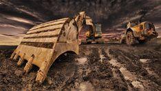 Ťažké stroje ako z inej galaxie Creative Photography, Amazing Photography, Caterpillar Excavators, Engin, Mysterious Places, Black Walls, Heavy Equipment, Outdoor Gear, Cool Photos